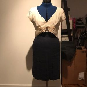 Rebecca Taylor navy and cream dress size 6